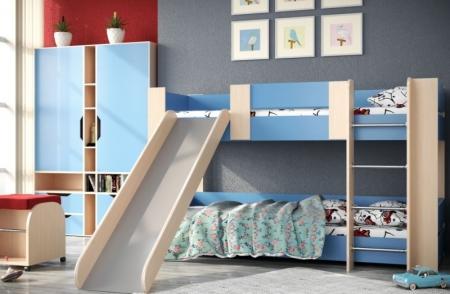 Двухярусная кровать №6 с горкой